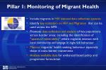 pillar 1 monitoring of migrant health