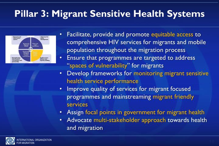 Pillar 3: Migrant Sensitive Health Systems