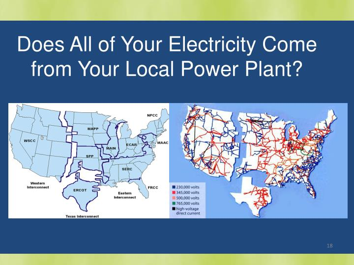 Does All of Your Electricity Come from Your Local Power Plant?
