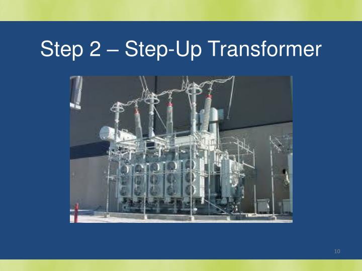 Step 2 – Step-Up Transformer