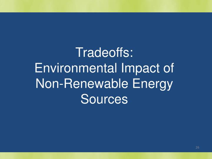 Tradeoffs: