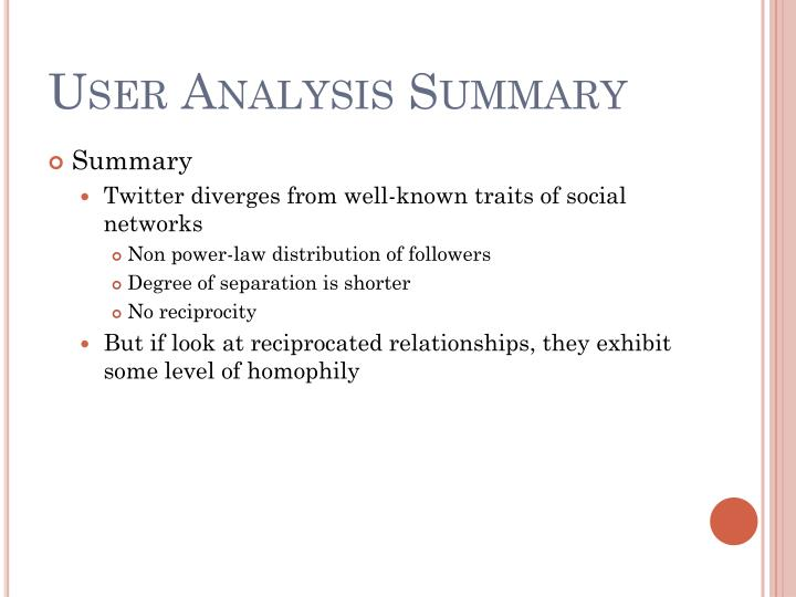 User Analysis Summary