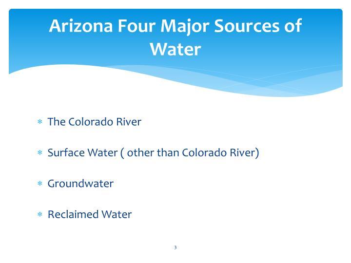 Arizona Four Major Sources of Water