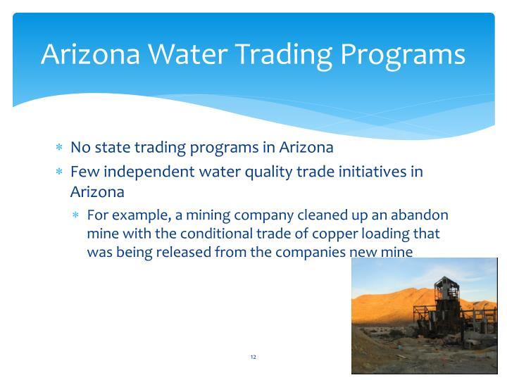Arizona Water Trading Programs