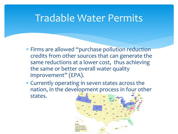 Tradable Water Permits