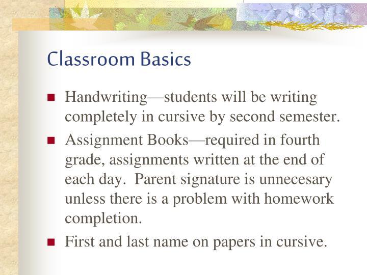 Classroom Basics