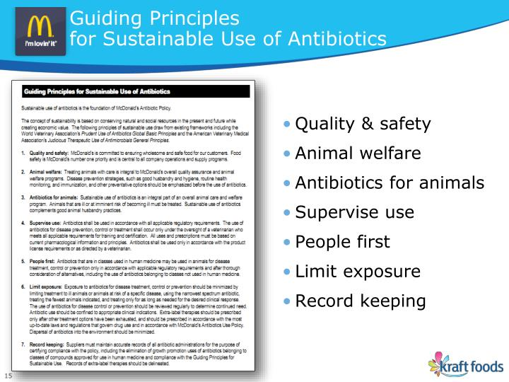 Guiding Principles                                                    for Sustainable Use of Antibiotics