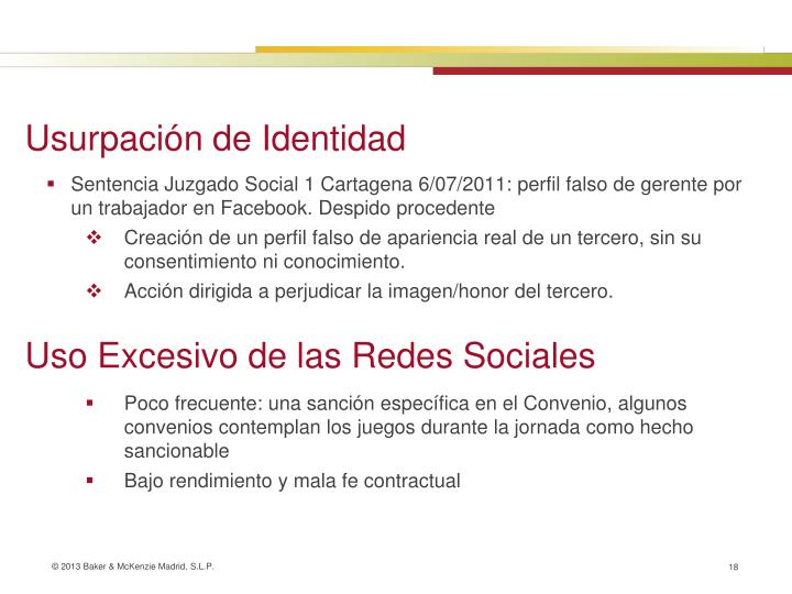 Sentencia Juzgado Social 1 Cartagena 6/07/2011: perfil falso de gerente por un trabajador en Facebook. Despido procedente