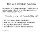 the step selection function