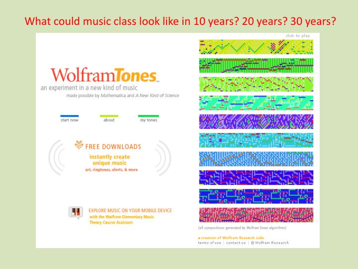 What could music class look like in 10 years? 20 years? 30 years?