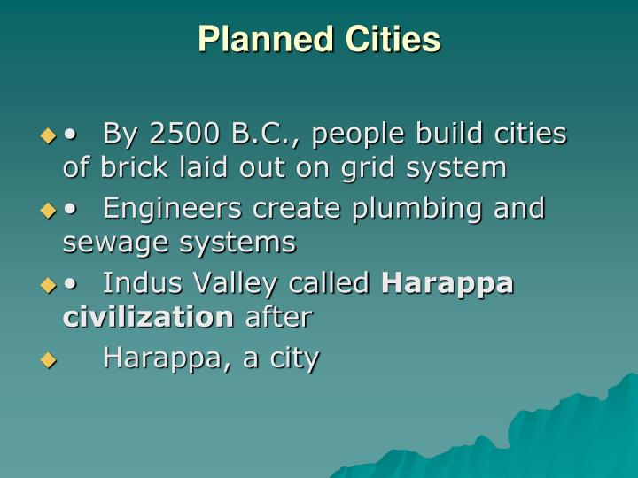 Planned Cities