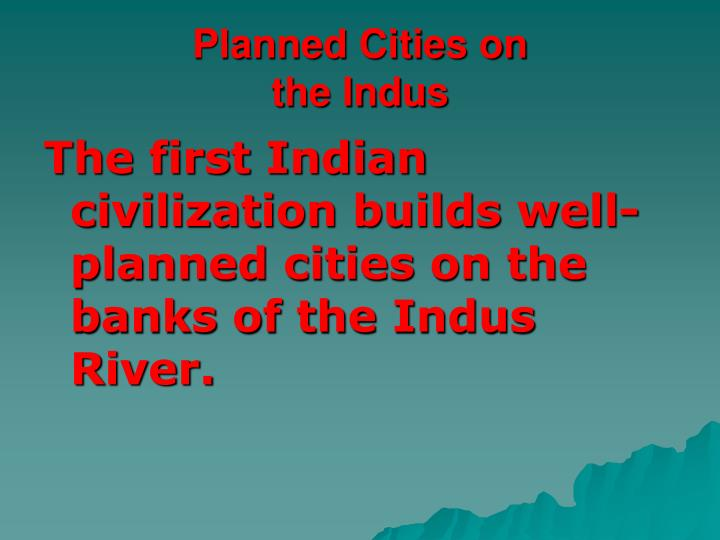 Planned Cities on