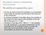solubility product expression calculations4