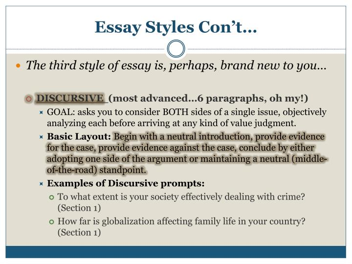 Descriptive prose essay