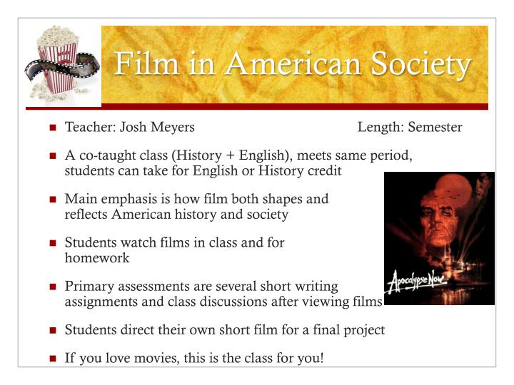 Film in american society