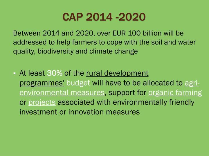 CAP 2014 -2020