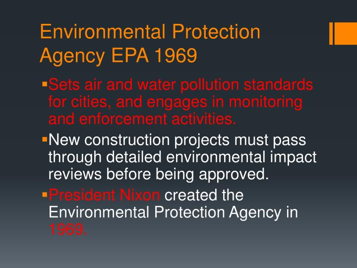Environmental Protection Agency EPA 1969