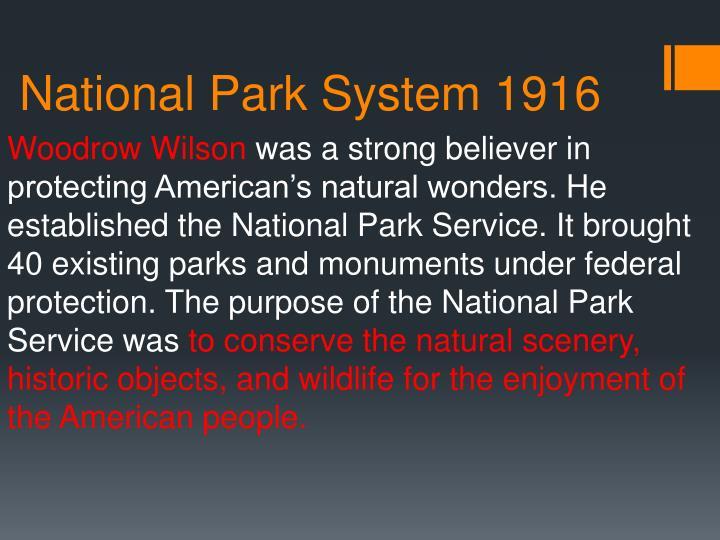 National Park System 1916