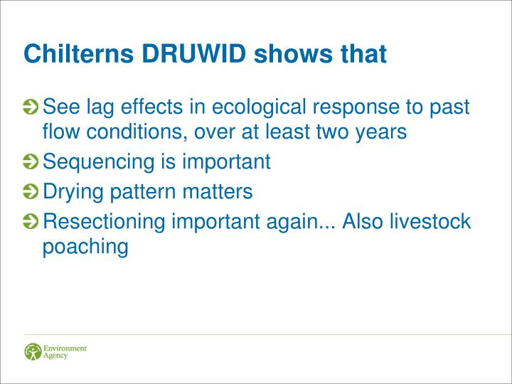 Chilterns DRUWID shows that