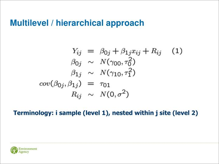 Multilevel / hierarchical approach