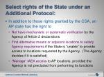 select rights of the state under an additional protocol