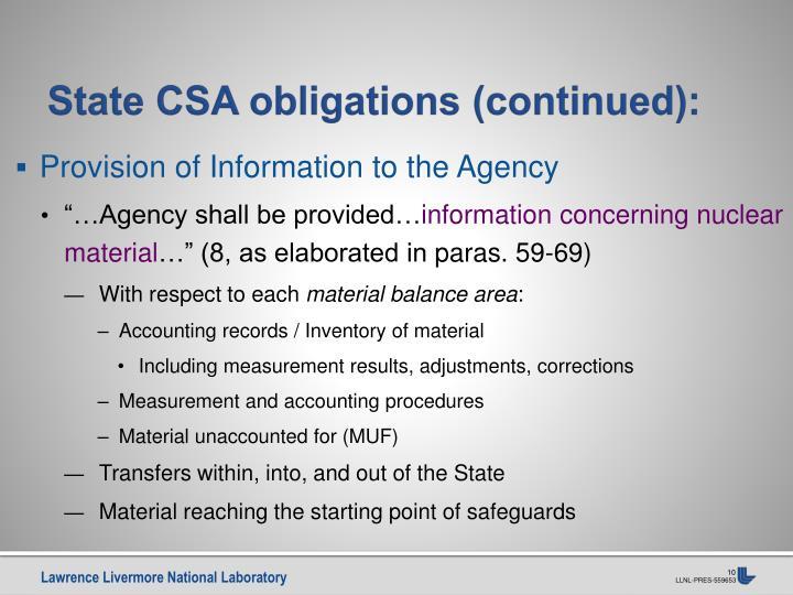 State CSA