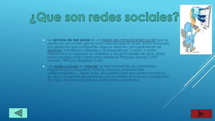 ¿Que son redes sociales?