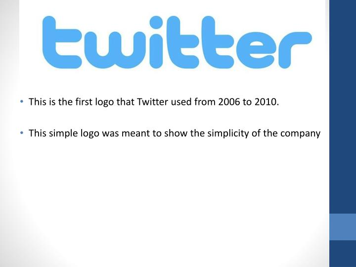 This is the first logo that Twitter used from 2006 to 2010.