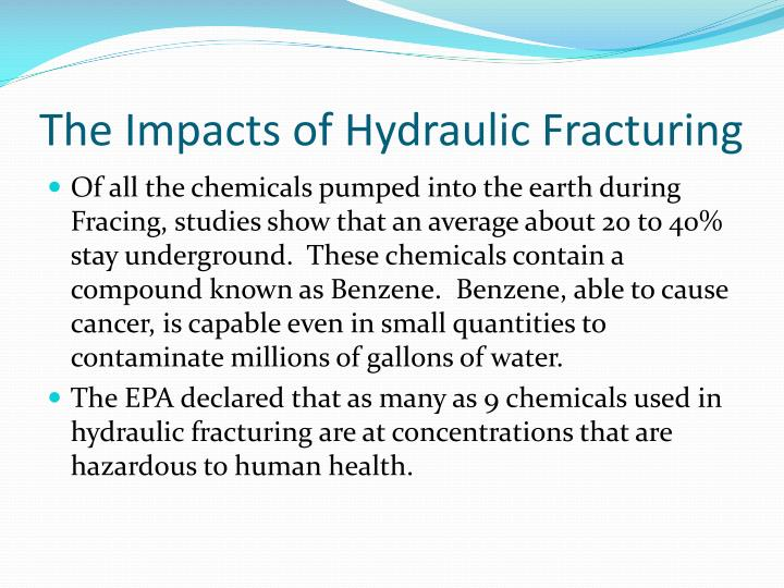 The Impacts of Hydraulic Fracturing