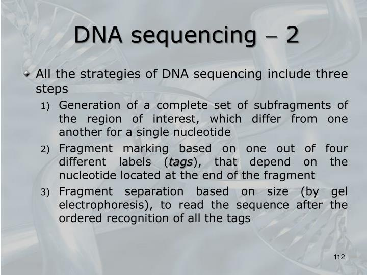 DNA sequencing  2