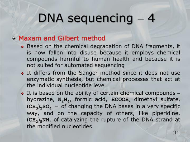 DNA sequencing  4