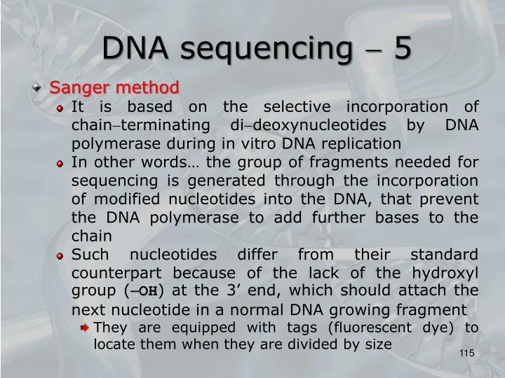 DNA sequencing  5