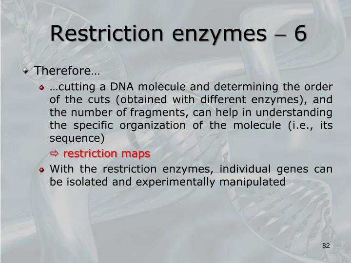 Restriction enzymes  6