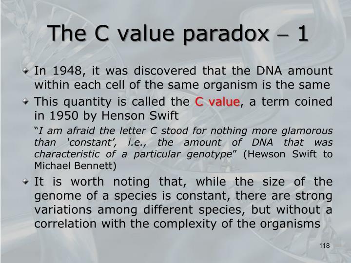 The C value paradox  1
