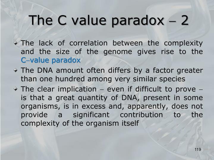 The C value paradox  2