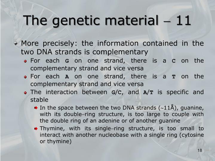 The genetic material