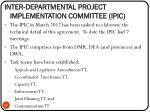 inter departmental project implementation committee ipic1