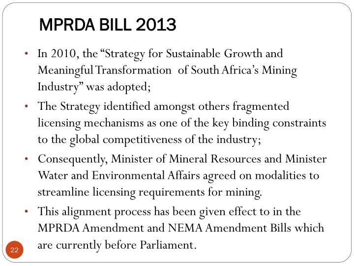 MPRDA BILL 2013