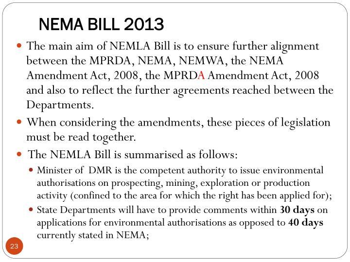 NEMA BILL 2013