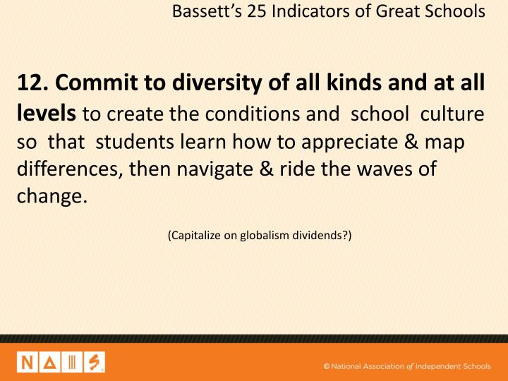 12. Commit to diversity of all kinds and at all levels