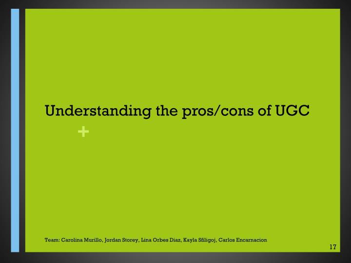 Understanding the pros/cons of UGC