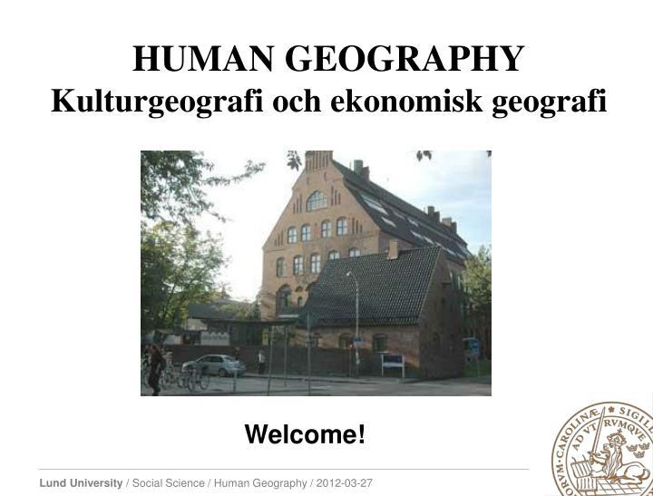 HUMAN GEOGRAPHY