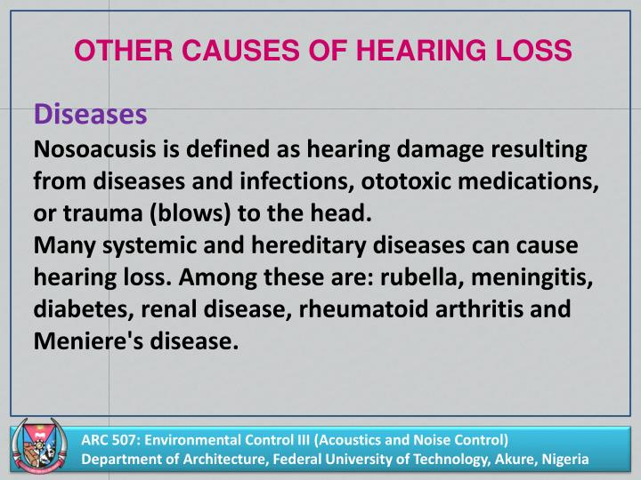 OTHER CAUSES OF HEARING LOSS