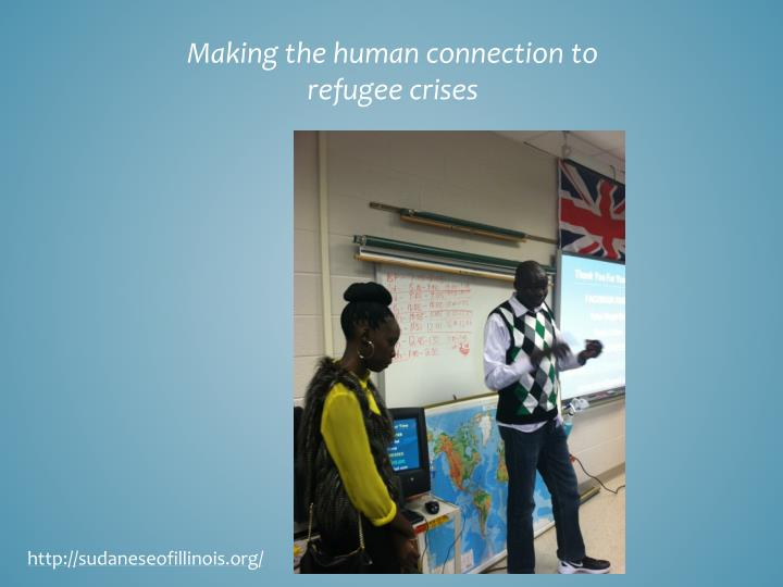 Making the human connection to refugee crises