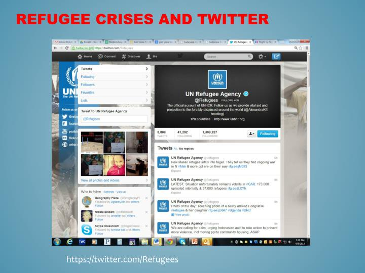 Refugee Crises and Twitter