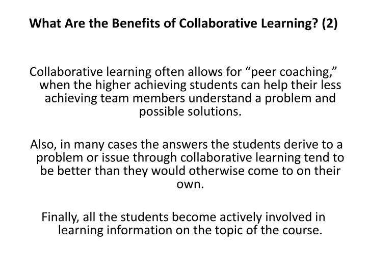 What Are the Benefits of Collaborative Learning? (2)