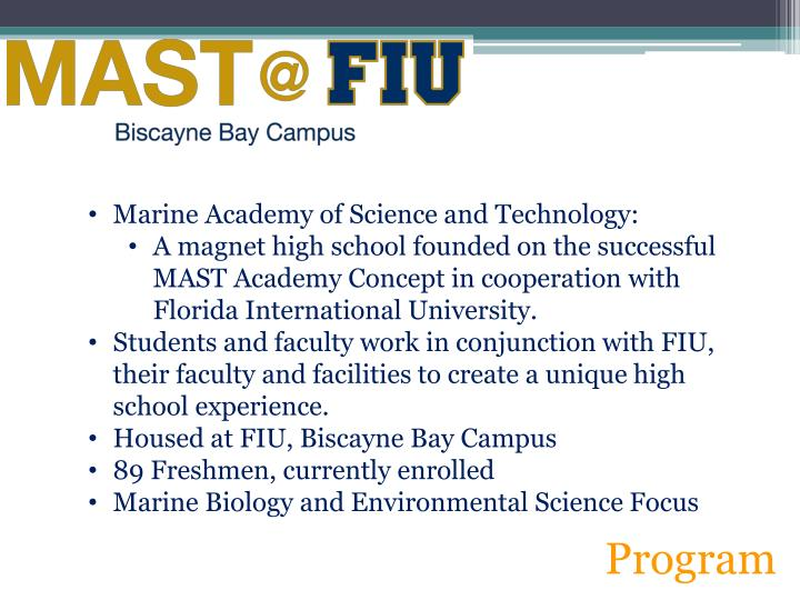 Marine Academy of Science and Technology: