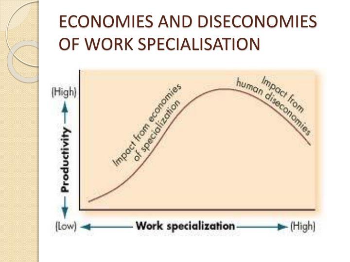 ECONOMIES AND DISECONOMIES OF WORK SPECIALISATION
