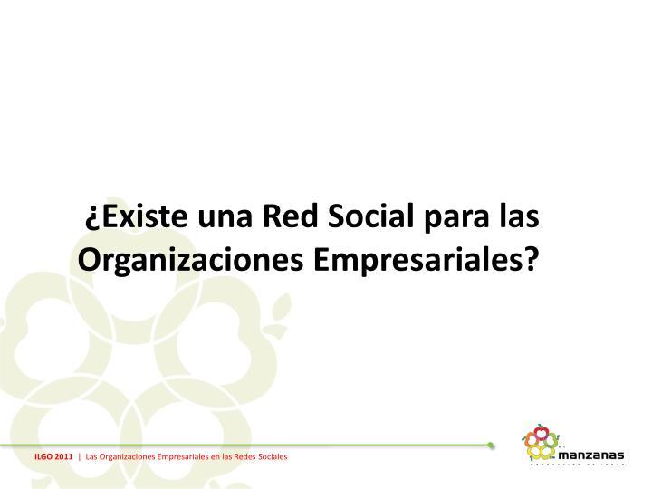 ¿Existe una Red Social para las Organizaciones Empresariales?