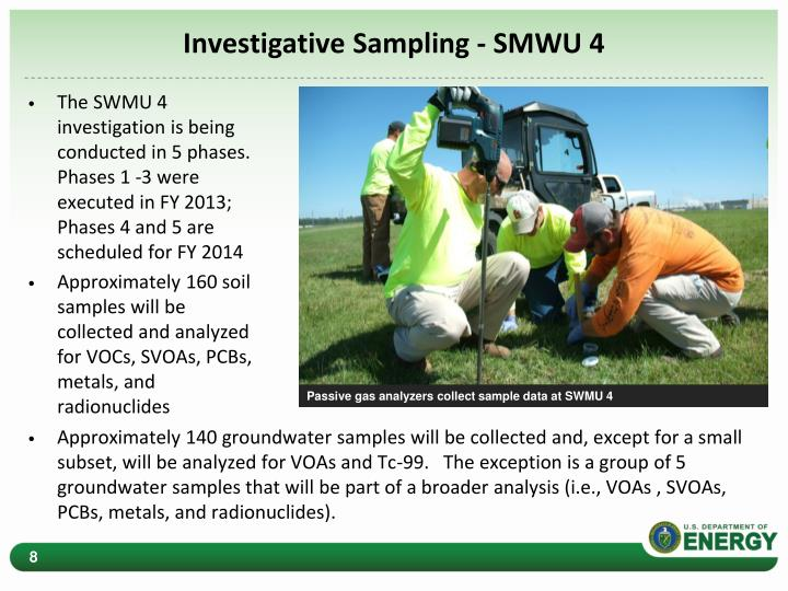 Investigative Sampling - SMWU 4